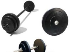 Strength training equipment - barbell, dumbbell, weight plates